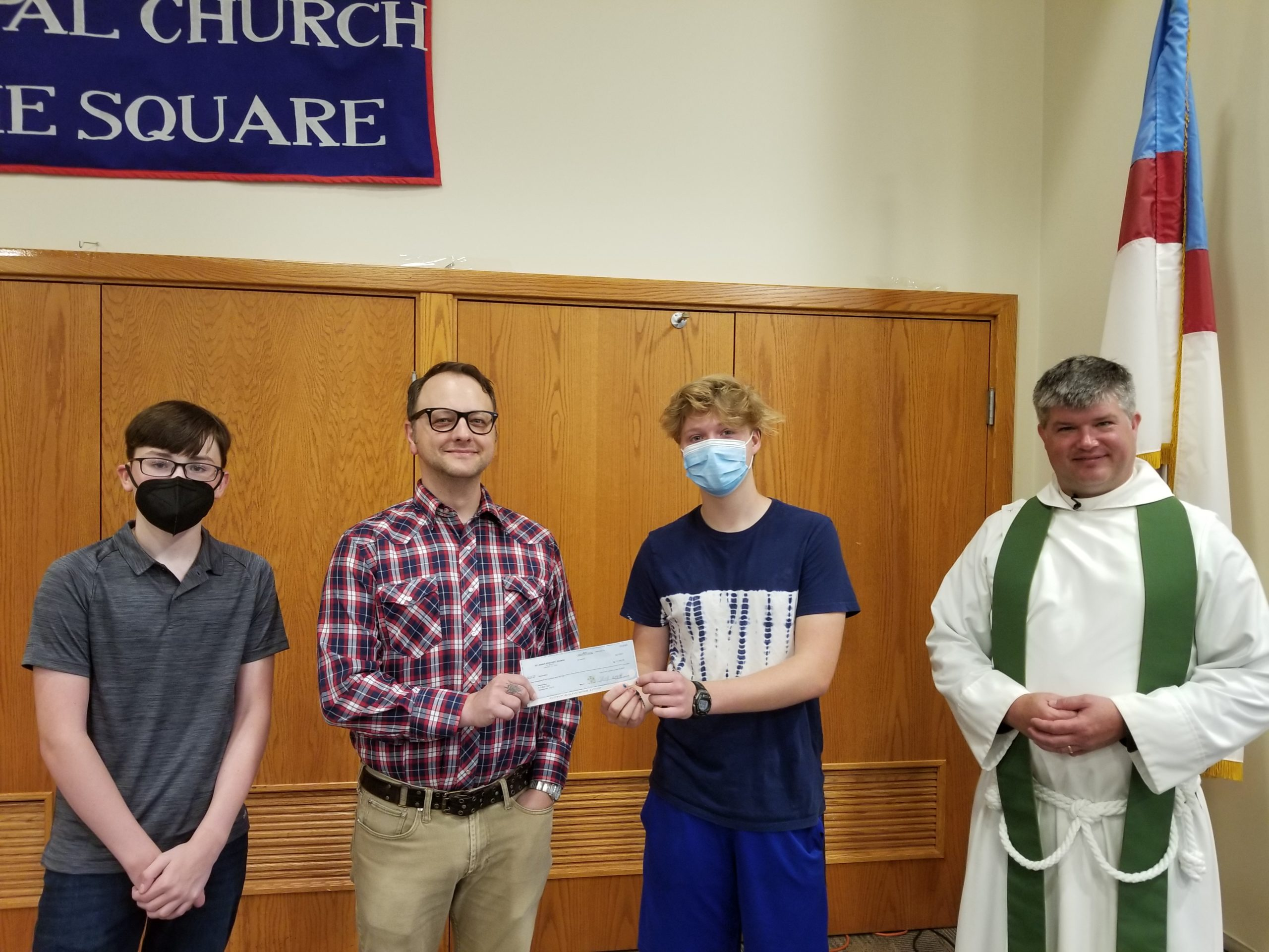 St. John's Youth Investment Club Donates a Portion of Their Investment Earnings to Maranatha-Carlisle